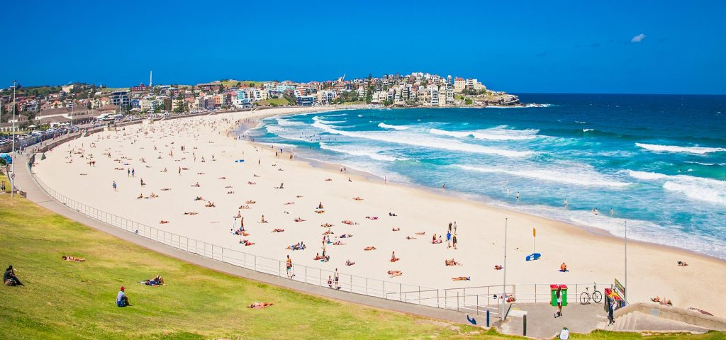 Bondi beach in Sydney, Australia. It's one of the most famous beach in the world.