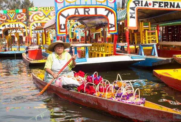 Colorful traditional Mexican boats