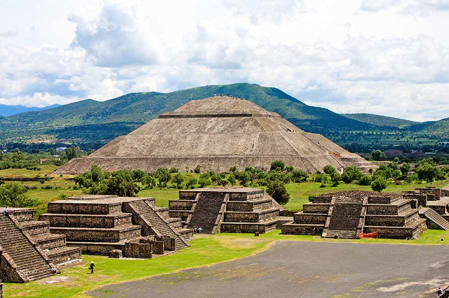 Famous Pyramids in Teotihuacan in Mexico