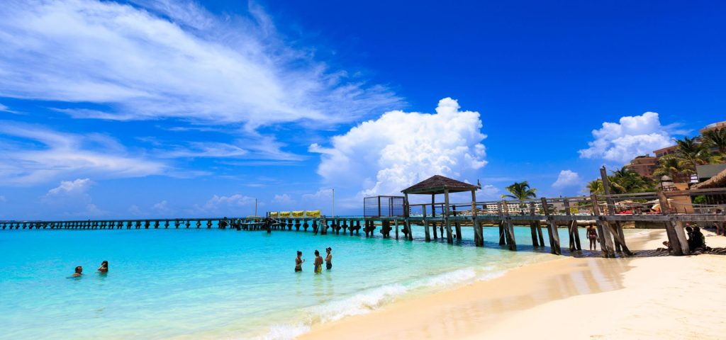 Blue Ocean Beach in Cancun