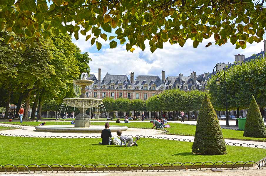the old square in Paris, France