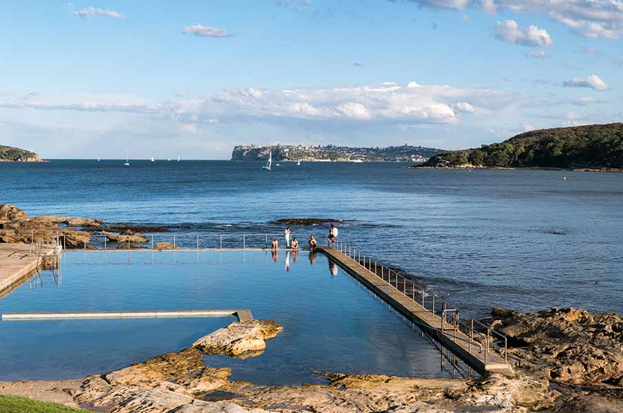 This tidal pool can be found along the Spit to Manly coastal walk in Sydney, Australia