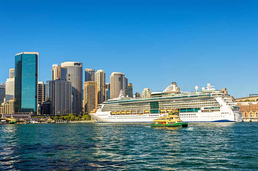 Cruise Ship in Sydney Harbour - Australia
