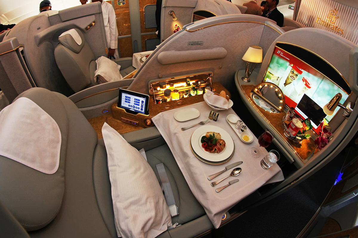 First Class Emirates Airlines.