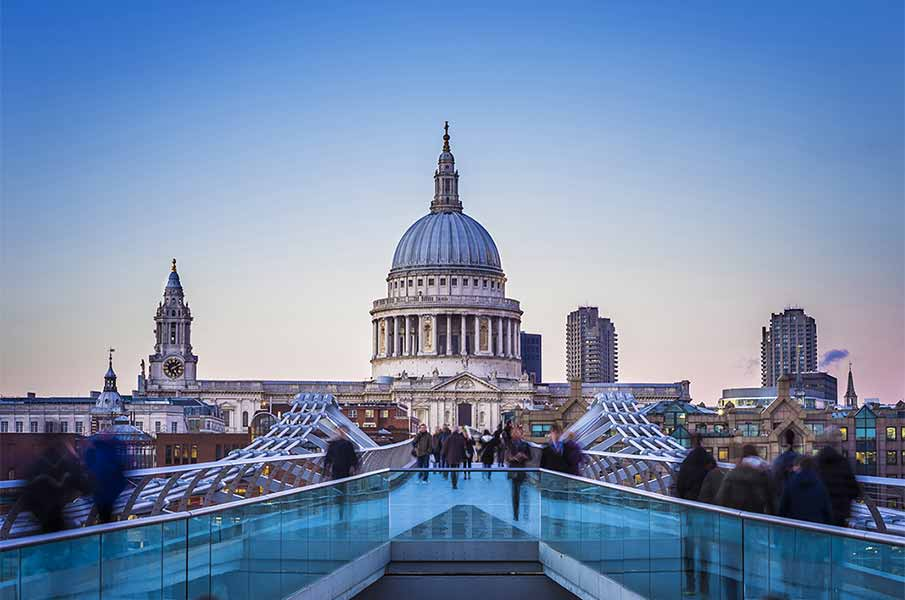 St.Paul's Cathedral in London, UK