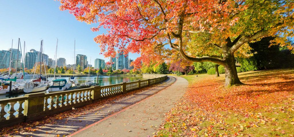 Stanley Park in Vancouver. Canada