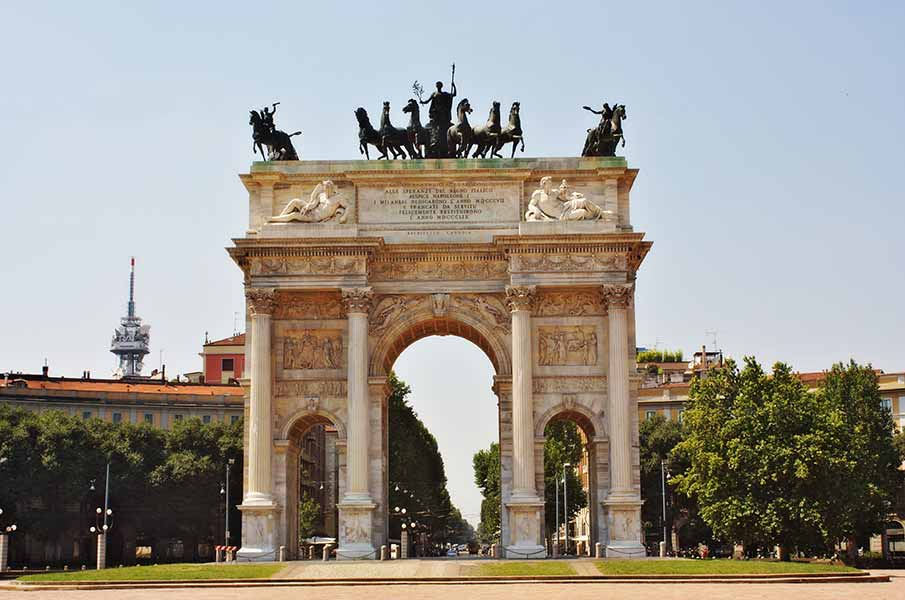 The Arch of Peace, Milano, Italy