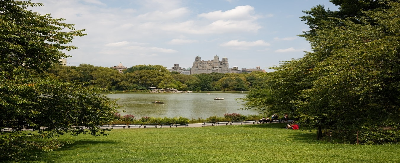 American Museum of Natural History and Lake in Central Park, NYC