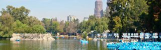 Lake at Chapultepec Park in Mexico City