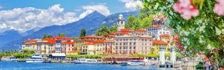 Lake Como and lovely village Bellagio