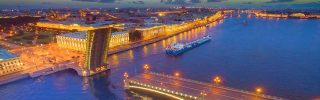 Petersburg bridges in Russia