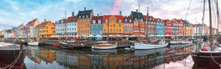 Old Town of Copenhagen, capital of Denmark.