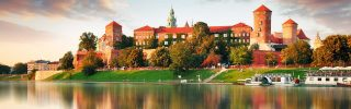Wawel hill with castle in Krakow, Poland