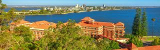 Kings Park and Botanical Garden on the Swan River, Western Australia