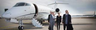 Team at Business Corporate jet