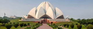 Lotus Temple built by Bahai People - New Delhi, India