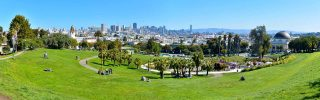 Panorama of Dolores Park San Francisco