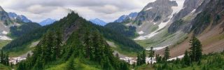 Mountain valley in North Cascades National Park