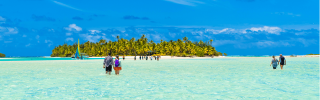 Tropical Beach on Aitutaki in the Cook Islands
